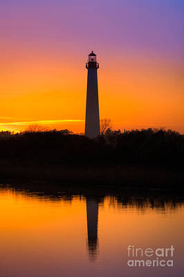 Beach Royalty-Free and Rights-Managed Images - Lighthouse Silhouette by Michael Ver Sprill