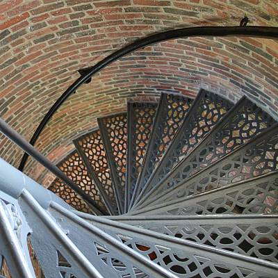 Art Print featuring the photograph Lighthouse Stairs by Colleen Williams