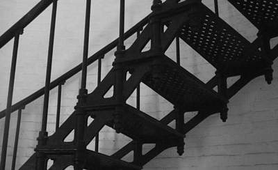 Rebecca West Photograph - Lighthouse Steps by Rebecca West