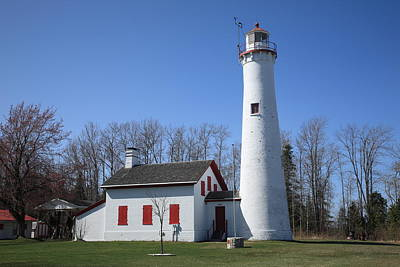 Photograph - Lighthouse - Sturgeon Point Michigan by Frank Romeo