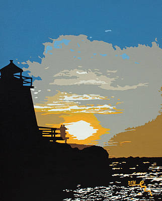 Lighthouse Sunset Original by Dennis Nadeau