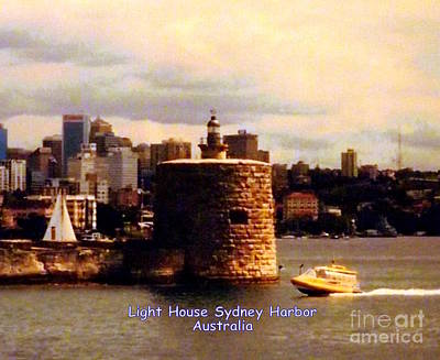 Photograph - Lighthouse Sydney Harbor by John Potts