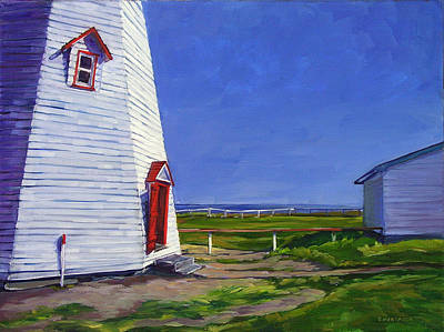 Painting - Lighthouse The Red Door by Christine Montague