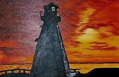 Painting - Lighthouse by Valorie Cross