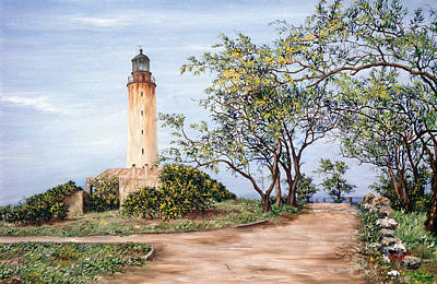 Barbados Painting - Lighthouse by Victor Collector