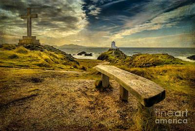 Coastline Digital Art - Lighthouse Viewpoint by Adrian Evans