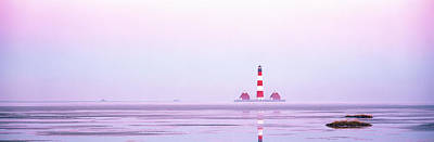 Lighthouse Westerhever North Sea Germany Art Print by Panoramic Images