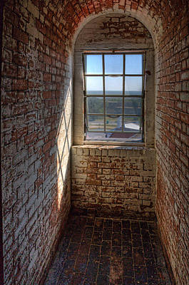Lighthouse Window Art Print by Peter Tellone