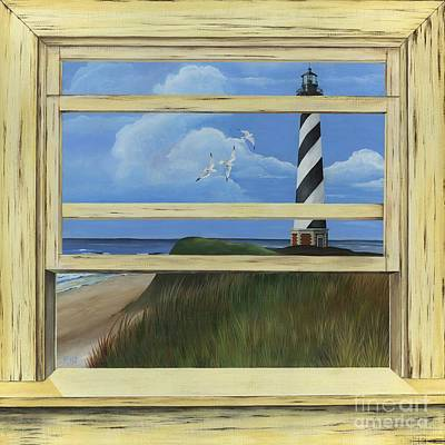Lighthouse Window Art Print