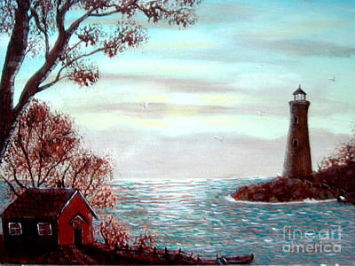 Lighthousekeepers Home Art Print by Barbara Griffin