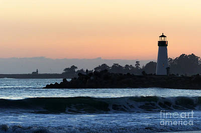 Lighthouses Of Santa Cruz Art Print by Paul Topp