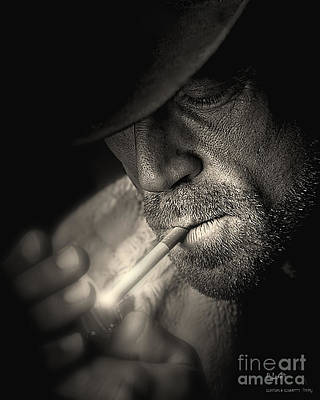 Photograph - Lighting A Cigarette by Pedro L Gili