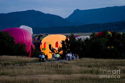 Steven Krull Royalty-Free and Rights-Managed Images - Lighting of the Balloons by Steven Krull