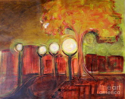 Lowertown Painting - Lighting The Way by L Cecka