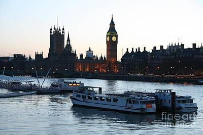 Photograph - Lighting Up Time On The Thames by Jeremy Hayden