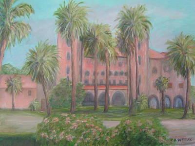 St. Augustine Florida Painting - Lightner Museum by Patty Weeks