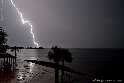 Photograph - Lightning 1 by Richard Zentner