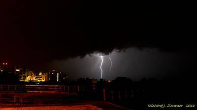 Photograph - Lightning 10 by Richard Zentner