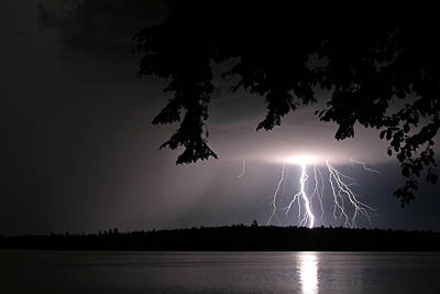 Photograph - Lightning At Night by Barbara West