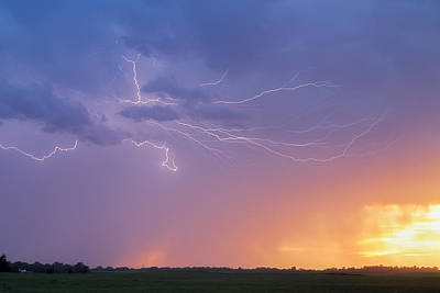 Photograph - Lightning At Sunset by Rob Graham