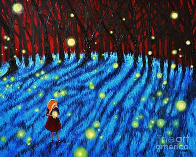 Painting - Lightning Bugs by Leandria Goodman