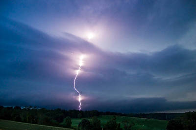 Photograph - Lightning by Cara Moulds