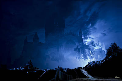 Lightning Castle Illusion Original by Andrea Lawrence