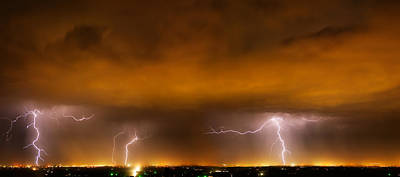 Heat Lightning Photograph - Lightning Drama by Leland D Howard