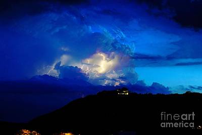 Medina Lake Photograph - Blue Thunder by Michael Tidwell