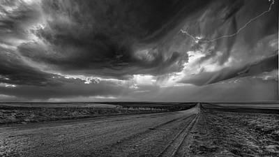 Flint Hills Of Kansas Photograph - Lightning by Garett Gabriel