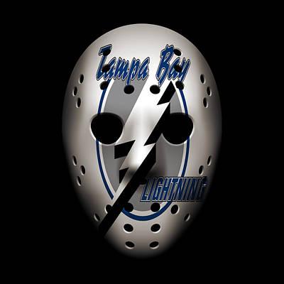 Lightning Photograph - Lightning Goalie Mask by Joe Hamilton