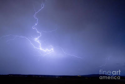 Lightning Goes Boom In The Middle Of The Night Print by James BO  Insogna
