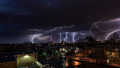 Lightning Photograph - Lightning Kc by Taylor Franta