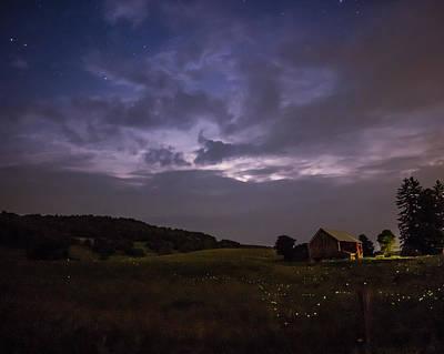 Heat Lightning Photograph - Lightning by Matt Bechtold
