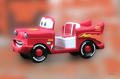 Lightning Mcqueen Print by Thomas Woolworth