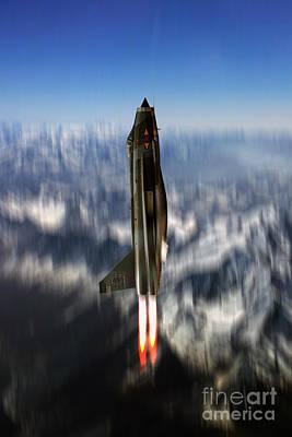 Lightning Missile Art Print