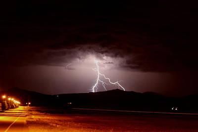 Photograph - Lightning Mountain by Trent Mallett
