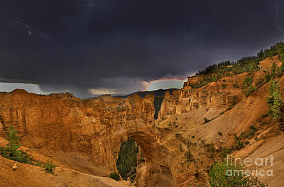 Photograph - Lightning Natural Bridge Bryce Canyon National Park by Dave Welling