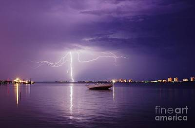 Photograph - Lightning On The Indian River by Lynda Dawson-Youngclaus