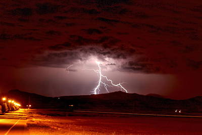 Photograph - Lightning On The Mountain by Trent Mallett