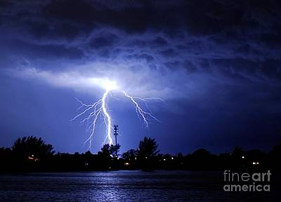 Lightning Photograph - Power From Above by Quinn Sedam