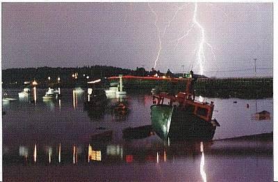 Garrison Cove Photograph - Lightning Over Cribstone Bridge by Donnie Freeman