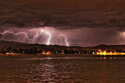 Photograph - Lightning Over Lake Loveland by Trent Mallett