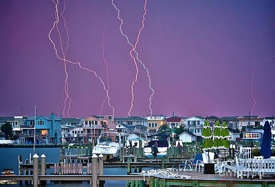 Nj Photograph - Lightning Over Lbi by Mark Miller
