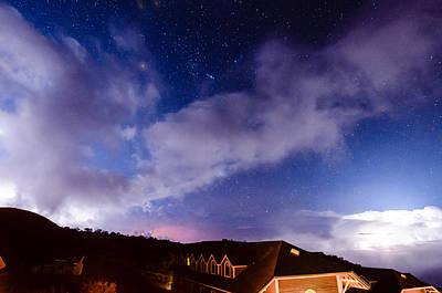 Photograph - Lightning Over Mauna Kea 1 by Jason Chu