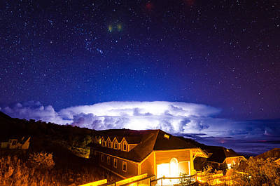 Photograph - Lightning Over Mauna Kea 2 by Jason Chu