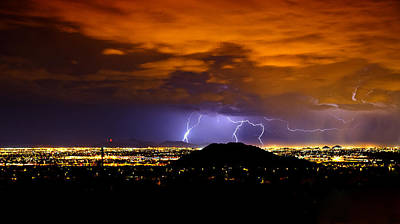 Photograph - Lightning Over Phoenix  by Saija  Lehtonen