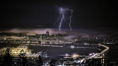 Photograph - Lightning Over San Francisco by PhotoWorks By Don Hoekwater