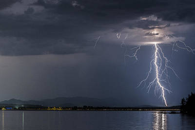 Photograph - Lightning Over Sandpoint by Albert Seger
