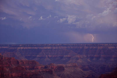 Lightnings Of Arizona Photograph - Lightning Over The Grand Canyon 1 by Tracy Winter